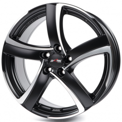 Alutec Shark 7,5x17 5/100 ET35 d-63,3 Racing Black Front Polished (SH75735B33-5) ~